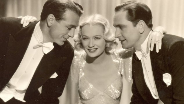 Design for Living starring Fredric March, Gary Cooper, and Miriam Hopkins